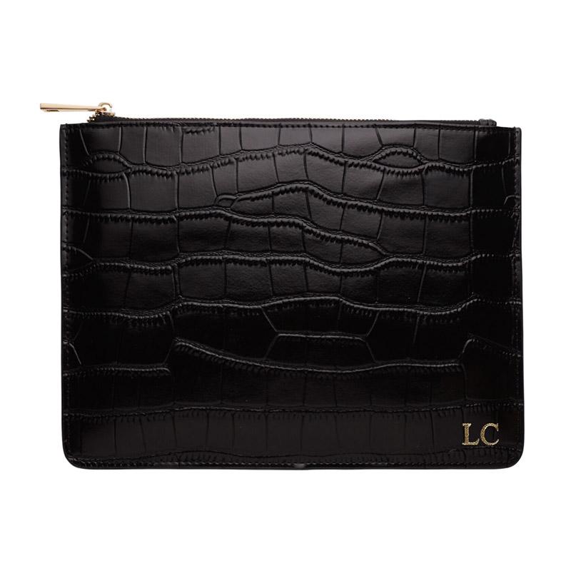 black-croc-pouch